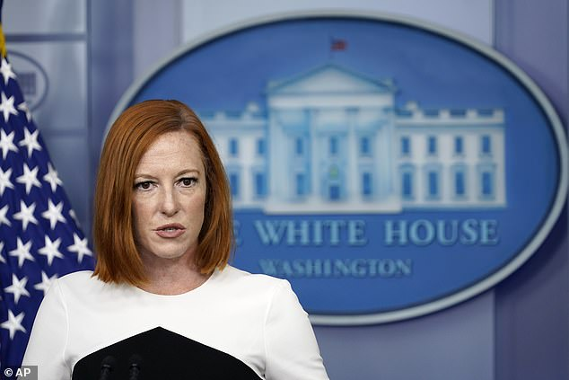 White House press secretary Jen Psaki insisted Wednesday that 'on one' believes the Taliban are a 'respected members of the global community' in a back-and-forth with Fox News' Peter Doocy