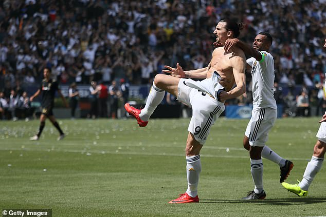 Ibrahimovic was formidable up front for LA Galaxy with a stunning goal record
