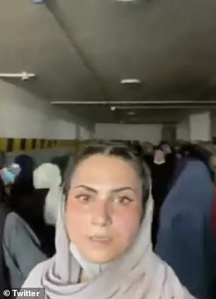 The video was purportedly taken at the Azizi Bank in Kabul on Tuesday