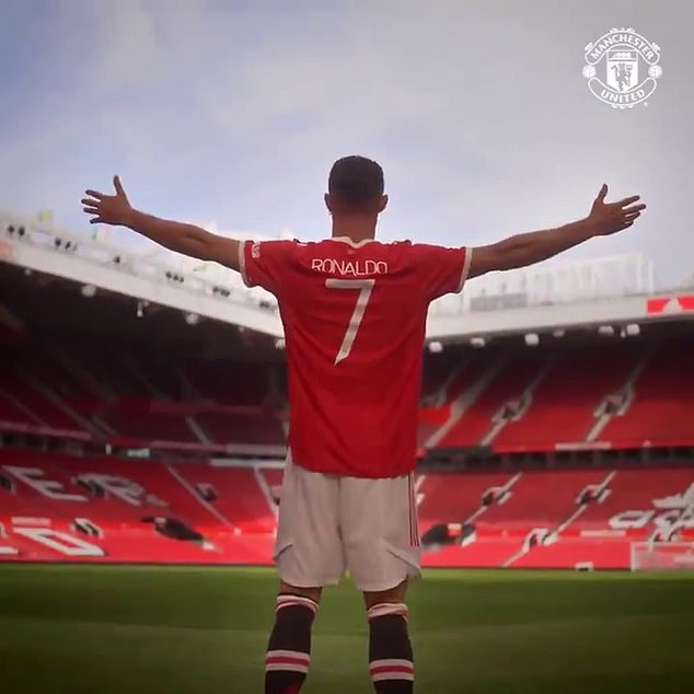 The Portugal international took-in the iconic stadium in his new No 7 United shirt on Thursday