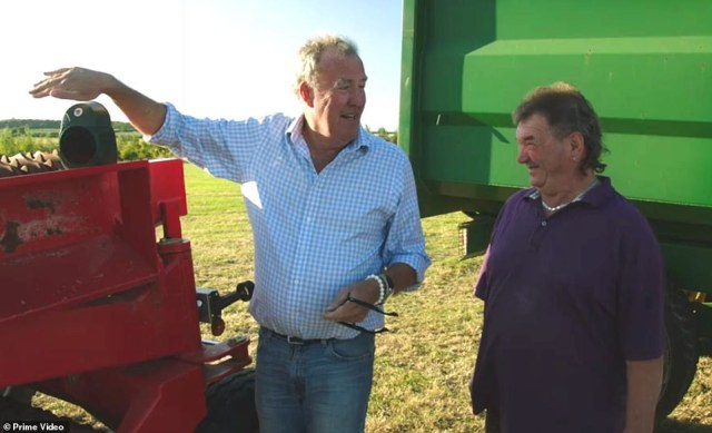 Gerald Cooper (pictured with Clarkson), who is 72 according to the Top Gear star, has stolen the show alongside a younger farm hand Kaleb Cooper, 21, and the pair have won the nation's heart for not letting outspoken Clarkson get away with any nonsense