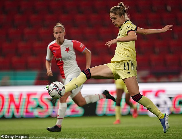 Miedema's hat-trick meant she has now scored 100 goals for Arsenal in just 110 matches