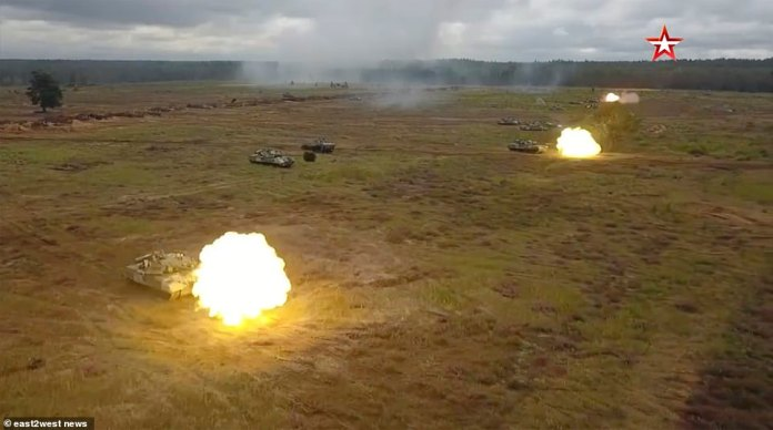 The mass military drills will involve live fire and mark the culmination of a bigger three-month exercise, in a move that has alarmed NATO
