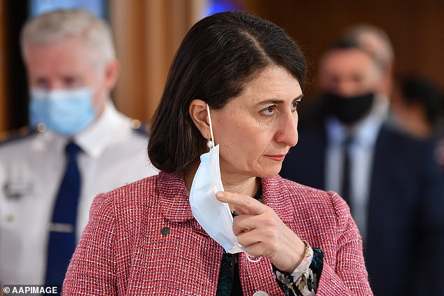 NSW Premier Gladys Berejiklian arrives to speak to the media during a press conference in Sydney, Friday, September 10, 2021.Berejiklian.said the daily COVID-19 media briefing would be scrapped from Monday
