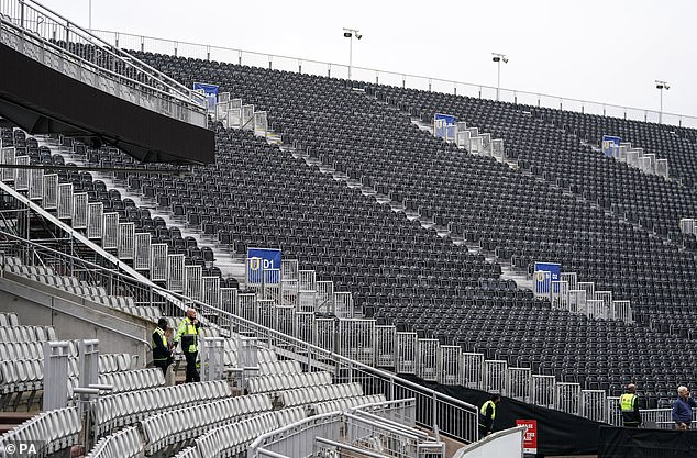 Stewards were the only people present at Old Trafford on Friday morning after the news broke