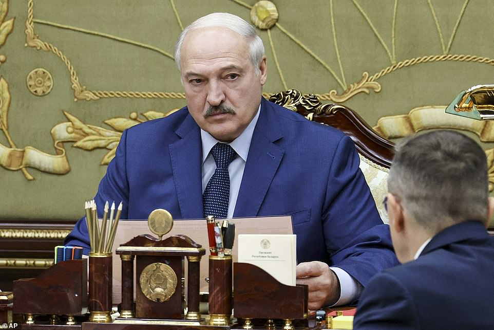 The Kremlin has proved a vital ally for Belarus after the West imposed sanctions on Minsk over a violent crackdown that followed a contested election which gave President Alexander Lukashenko (pictured) his sixth term in office.
