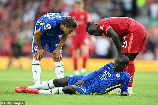 N'Golo Kante will miss the Aston Villa game after failing to overcome a thigh problem