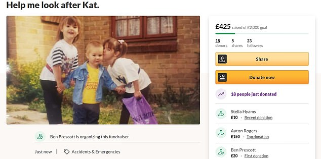 A Gofundme has been started to raise £2,000 to get their brother Ben a plane to Canada, where he can visit Kathryn after quarantining 14 days
