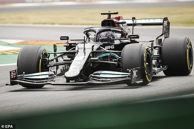 Lewis Hamilton laid down a dominant marker in first practice for the Italian Grand Prix
