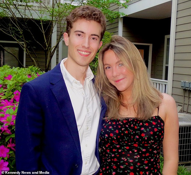 Falling in love:Annie Wright, 21, and Michael Head, 23, met on Tinder last October