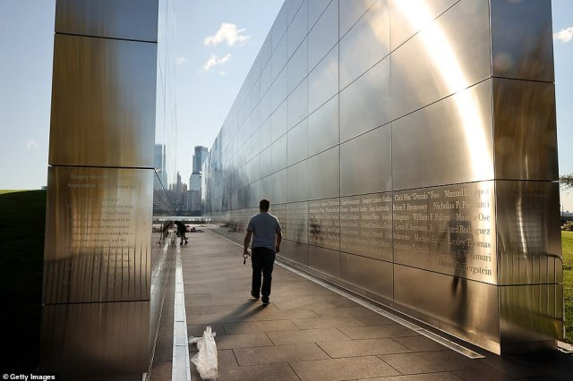 The Empty Sky Memorial (pictured on Sept. 10, 2021) is dedicated to New Jersey residents who were killed during the September 11, 2001 attacks on the World Trade Center, the Pentagon, and on Flight 93 in Shanksville, Pennsylvania