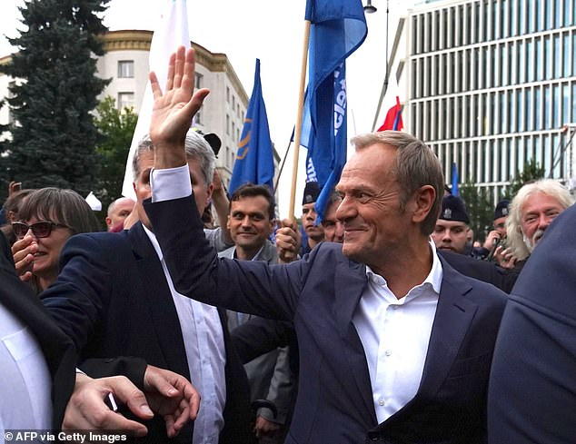 Former President of the European Council Donald Tusk, who is now the leader of Poland's opposition party - Civic Platform - warned today of the 'constant undermining' or Poland's presence in the EU by the Law and Justice party