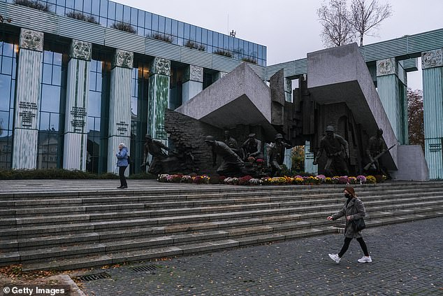 The European Commission said on Tuesday that it had asked the EU's court of justice to impose daily fines on Poland over its rule of law, and a controversial chamber of the Polish Supreme Court (pictured in November, file photo) that disciplines judges and prosecutors