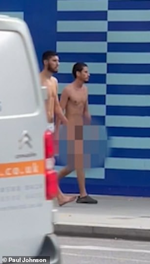 People on Twitter explained they had also witnessed the naked men wandering in the street