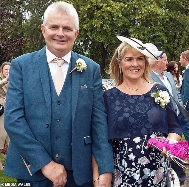 Vernon Hough ran Gwastad Hall Nursing Home near Wrexham with his wife Louise (both pictured), but killed himself in May last year after their care home was overrun by Covid