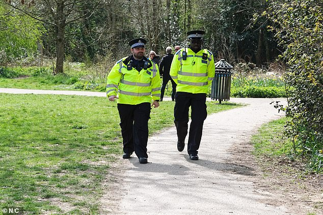 Three teenagers, aged 14, 15 and 17, have now been charged. Pictured: Police on scene in April