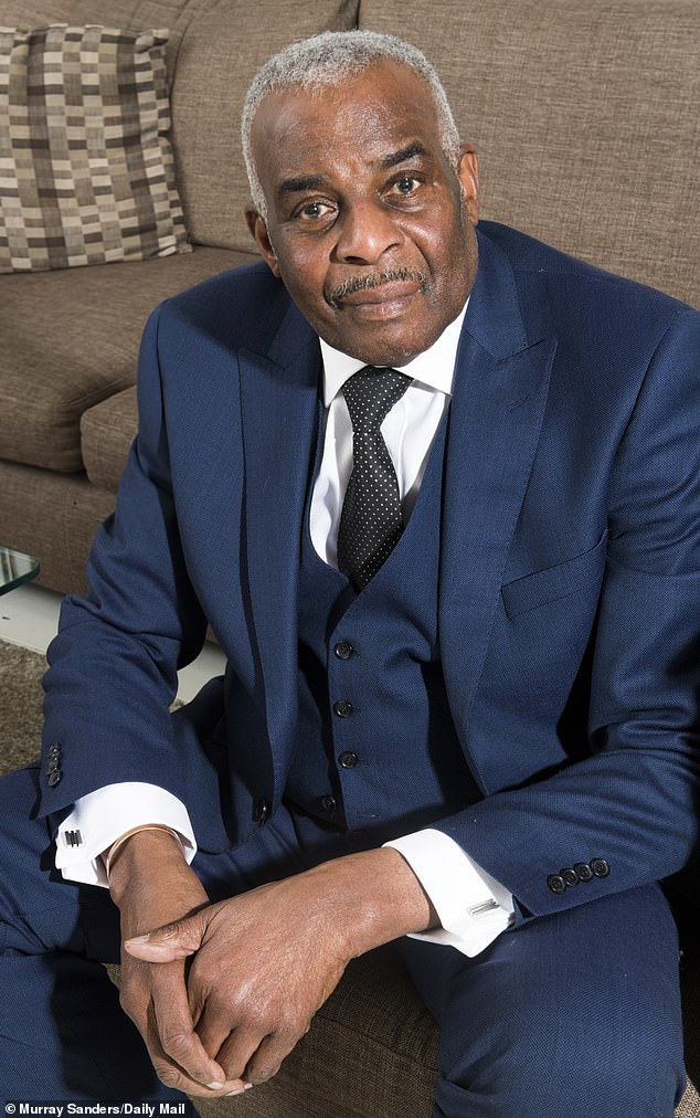 Angrily attacking Home Secretary Priti Patel's decision to keep Dame Cressida on, Neville Lawrence (pictured) said the officer had twice 'betrayed the trust' he had placed in her