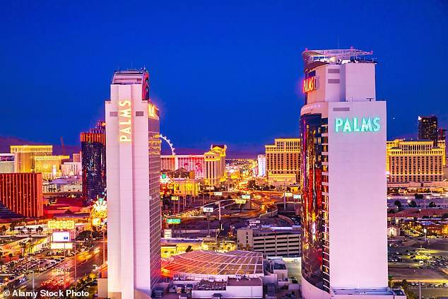 Mayorga reported the alleged rape, whichtook place in the penthouse suite of a Las Vegas casino resort in June 2009, to Las Vegas police within hours. Pictured: View of Las Vegas