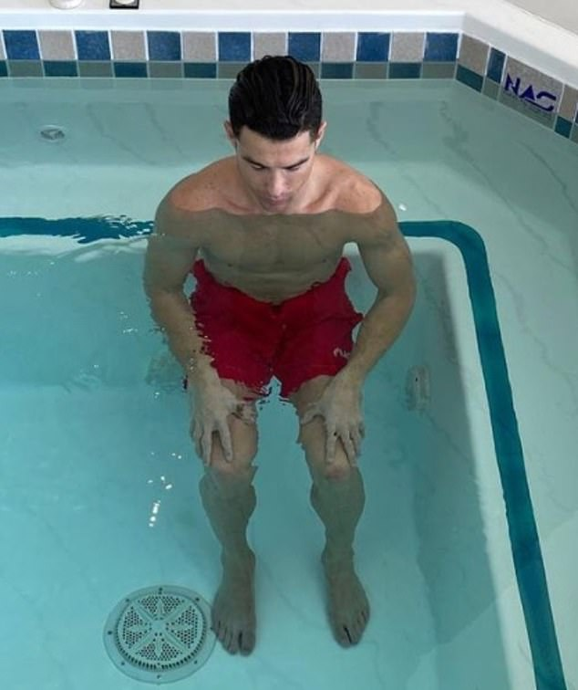 Ronaldo has five naps a day and spends a lot of time in the swimming pool