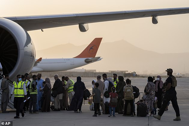 This was the first large-scale departure flight since the final US troops left on August 31 - an evacuation flight from Kabul to Qatar with just over 100 foreigners on board