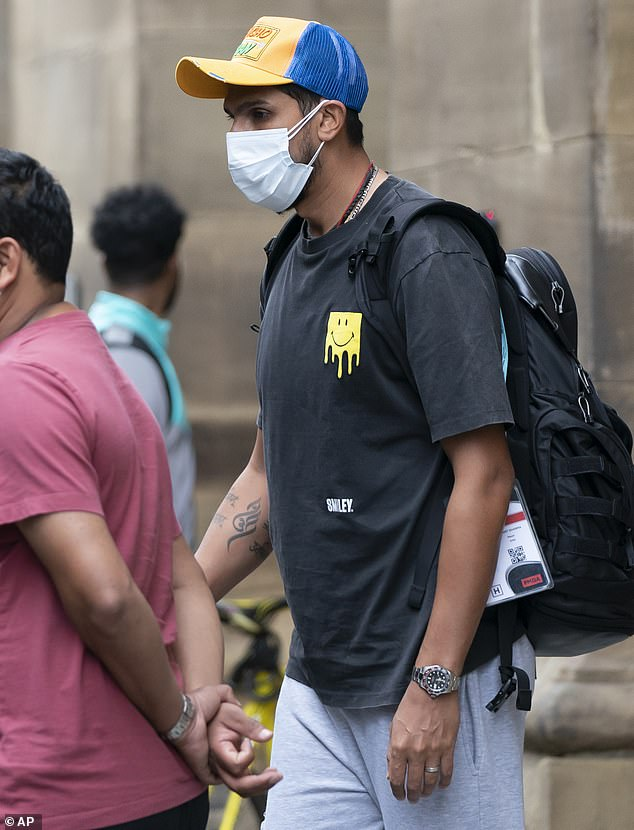 Ishant Sharma was also spotted leaving their hotel after the Old Trafford Test was cancelled