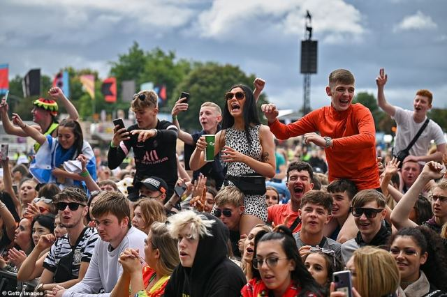 As a result of the Covid-19 pandemic last year's festival was cancelled. This year up to 50,000 fans, who need a negative lateral flow test to enter, are to be allowed on site daily