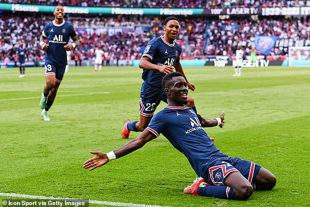 Idrissa Gana Gueye headed home at the back post from Mbappe's shot to make it 4-0
