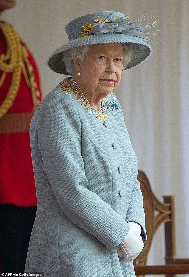 Last week, Andrew and his ex-wife Sarah Ferguson joined Her Majesty (pictured) at Balmoral, where he remains, protected by the seclusion of the 50,000-acre estate
