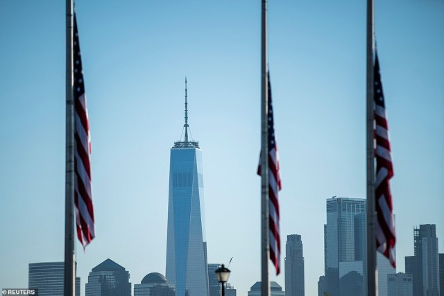 The One World Trade Center is seen during the 20th anniversary of the September 11 attacks in New York