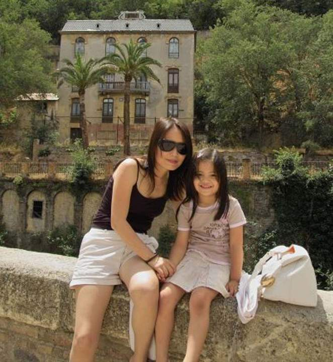 BRING ME SUNSHINE: With mum Renee on a family trip to Granada in Spain