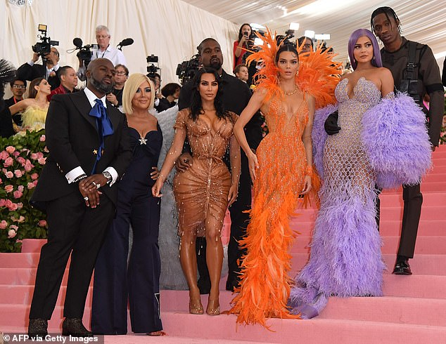 Family reunion: Kris, Kim, Kendall and Kylie all attended the Met Gala last in 2019 and this year marks the return of the famed fashion ball as the 2020 event was cancelled on account of the COVID-19 pandemic; pictured 2019
