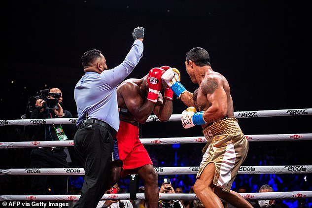 The 58-year-old replaced Oscar De La Hoya at late notice and was no match for his opponent