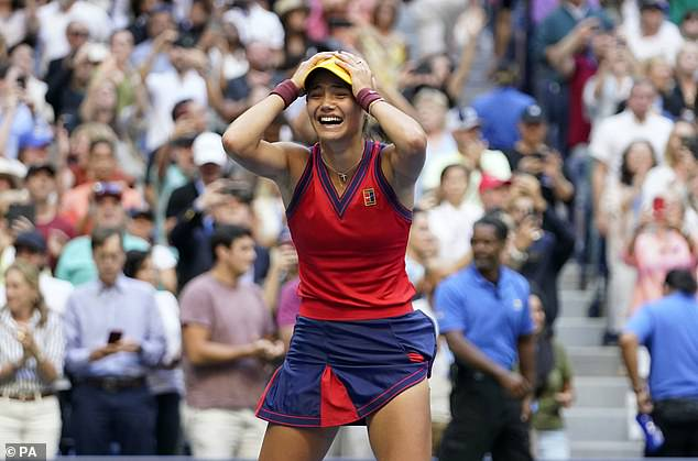 The 18-year-old's first Grand Slam victory earned her a huge £1.8million in prize money