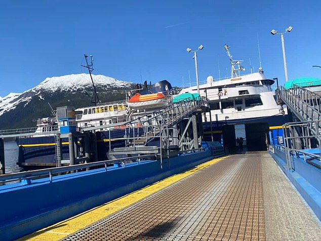 'Please thank my husband for giving up his birthday to make a long unexpected trip to Juneau by road/ferry system!' she wrote on Facebook at the time.