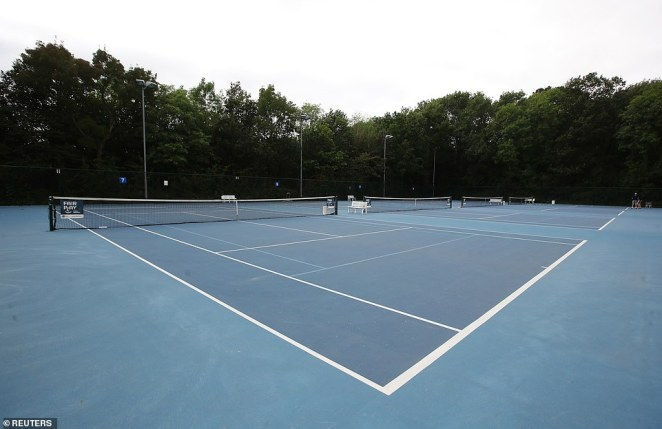 Meanwhile at the Bromley Tennis Centre in nearby Farnborough (above) youngsters arrived early on Sunday morning as they hoped to emulate the teenage star who trained on these very courts