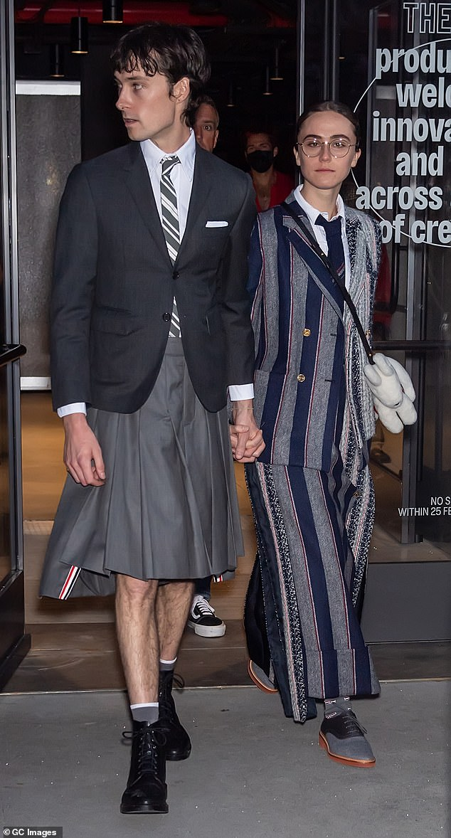The pair were spotted leaving the Thom Browne Spring 2022 show