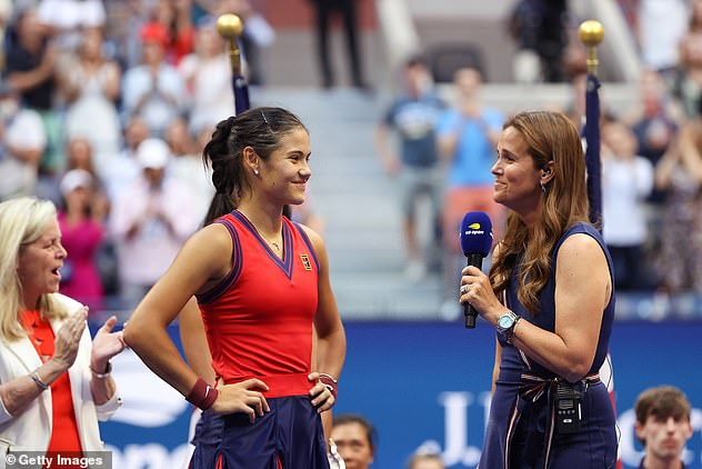 And the teenager showed much maturity beyond her tender years during a post-match interview, with Judy stating that she 'showed no unbearable enthusiasm'