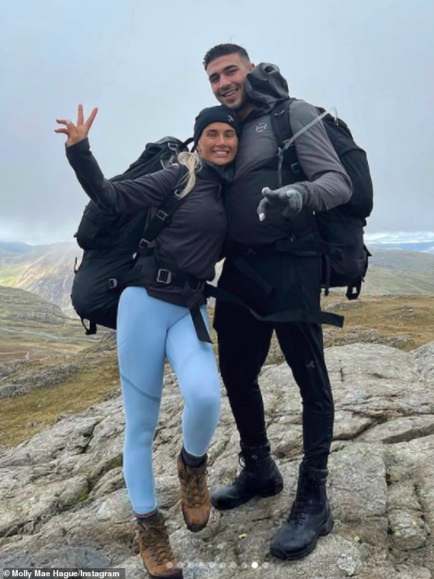 Getaway: Molly-Mae took to Instagram on Sunday to share a slew of photos of her weekend with beau Tommy and her family in the lake district