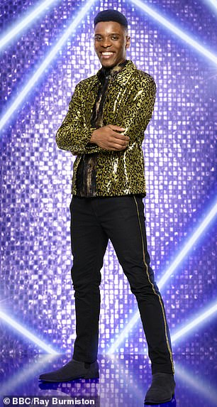 Competing for the glitterball: Rhys (pictured) and Robert embraced bold, statement suit jackets