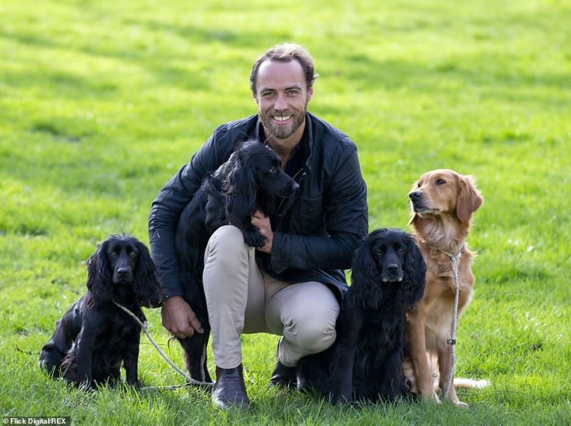 Friends for Life Ambassador James Middleton with his dogs Luna, Inka Ella and Mabel Friends for Life award Crufts in 2020