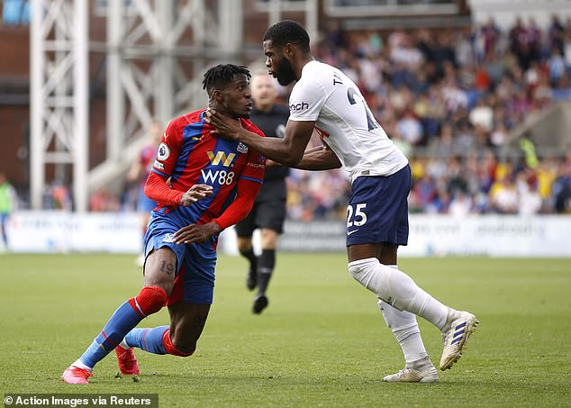 Japhet Tanganga's red card after losing his cool with Wilfred Zaha added to a miserable game