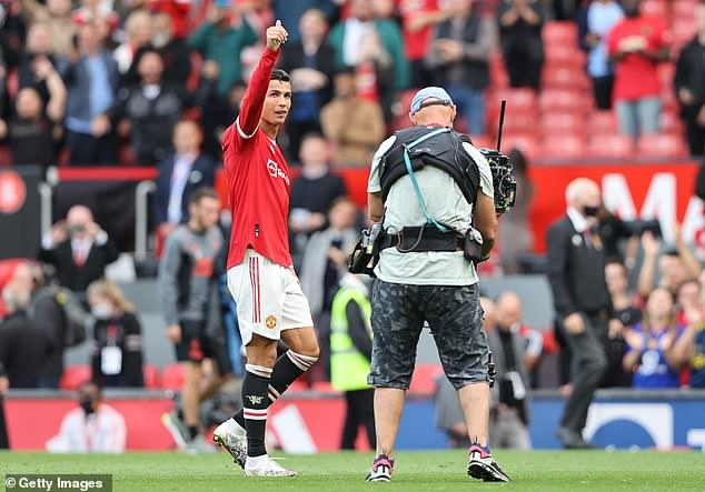 The 36-year-old footballing icon was treated like a hero by the supporters at Old Trafford