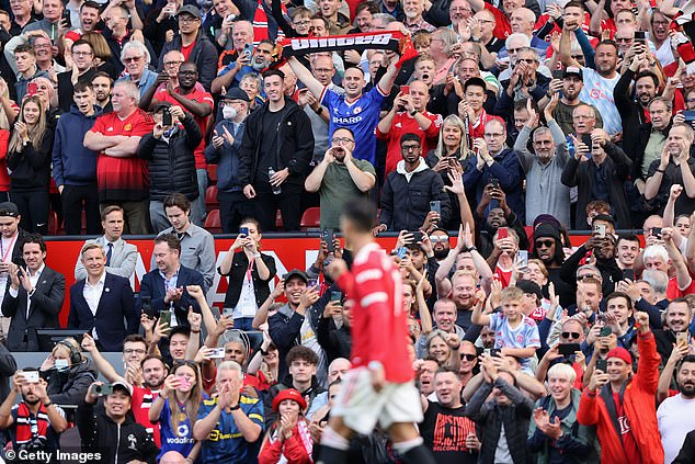 The United fans sung Ronaldo's name all afternoon and for a long time after the final whistle