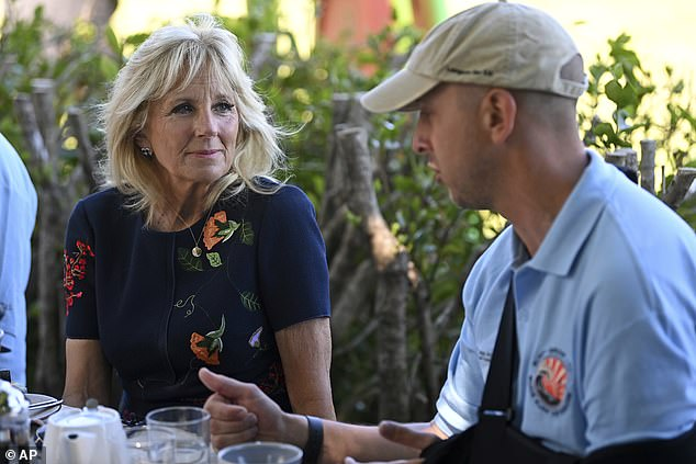 Jill Biden touted the great work of Prince Harry's Invictus Games when she met with British veterans in June during a visit to the United Kingdom