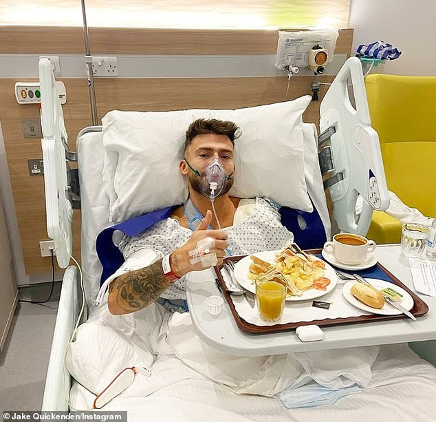 Injuries:Former X Factor star Jake Quickenden left the show after rupturing his pectoral muscle and bicep in a speedboat challenge