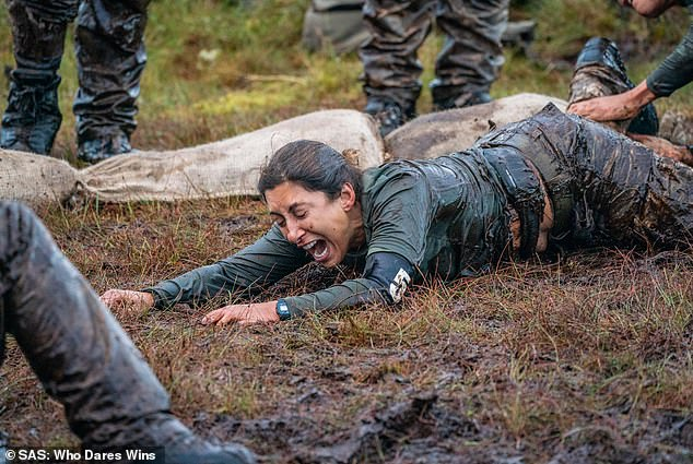 Out of the running: Four celebrities withdrew from Celebrity SAS: Who Dares Wins earlier in the series including Saira Khan who suffered a broken ankle