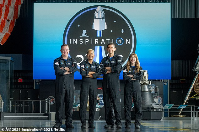 The SpaceX flight is designed to carry its four passengers where no all-civilian crew has gone before - into Earth's orbit. There, they will circle the globe once every 90 minutes at more than 17,000 miles per hour, or roughly 22 times the speed of sound