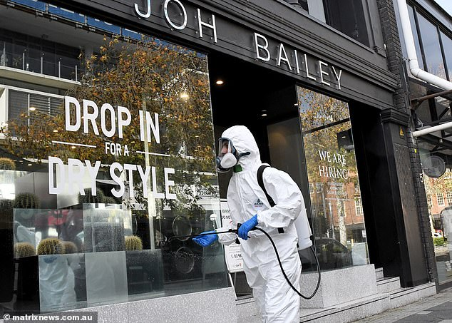 Joh Bailey Hairdressing Salon at Double Bay after it was reported as a high exposure site at the start of Sydney's Delta outbreak in June