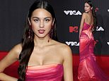 Olivia Rodrigo is pretty in pink strapless gown at MTV Video Music Awards 2021