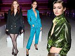 Julianne Moore and Eiza Gonzalez set pulses racing as they watch Gigi Hadid at Tom Ford